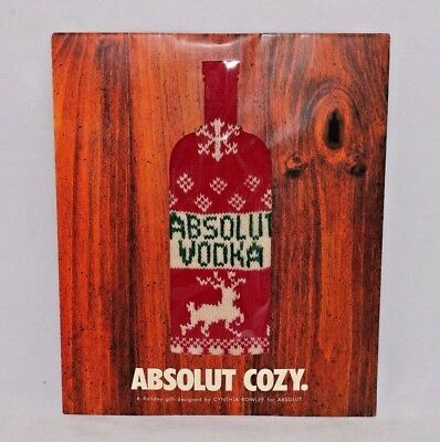 Absolut Vodka Bottle Sweater Cozy Christmas Holiday Gift Cynthia Rowley Design