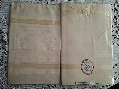 Ross Irish Rose Products - Vintage Tablecloth & Serviette Set...in Original Pack