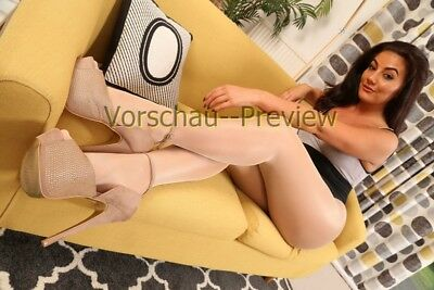 A60-98, Nylon Legs Model Foto, Pantyhose Strumpfhose Stocking Feet A4 Photo