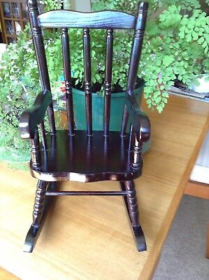ROCKING CHAIR 39cm TALL FOR DOLLS OR BEARS