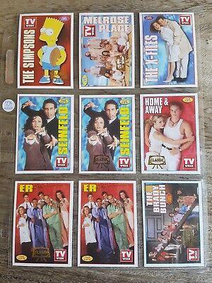 1996 TV Week complete set of 32 cards plus 4 extras