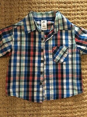 Red, Blue, Green, White Check Shirt - Size 1