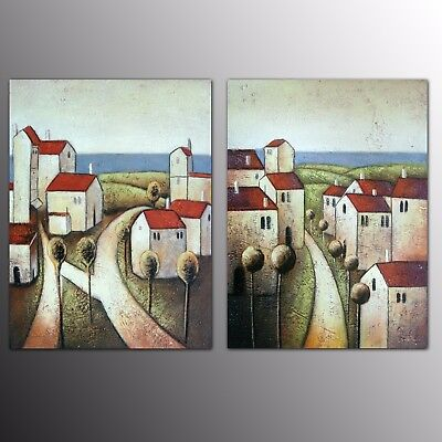 2 Piece Canvas Art Prints House Oil Painting Wall Art For Home Room Decor