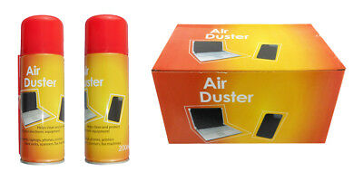 2 x 200ml Compressed Air Duster Cleaner Can Canned Laptop Keyboard Mouse Phones