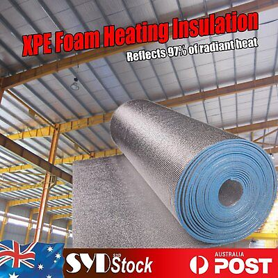 XPE Foam Foil Insulation Shed Loft Steel Frame Roof Heat Barrier Flame Retardant