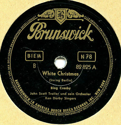 "Bing Crosby    ""White Christmas""        Schellackplatte   78 rpm"