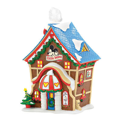 Dept 56 Disney Christmas Village Mickey's Cocoa Shop Shoppe Hand Crafted USA NEW