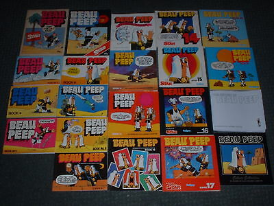 Complete Beau Peep 21 Book Collection Incl Rare First Edition Daily Star Cartoon