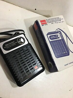 VINTAGE RADIO SHARP BAND  MW(-AM) 1960S -1970s +BOX IN NEW CONDITION