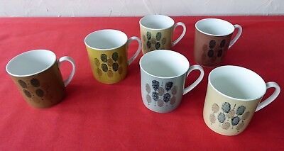 6 Susie Cooper Coffee Cups Abstract