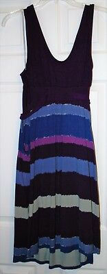 Liz Lange Maternity Dress Medium Purple Sleeveless Knee Length - Nice!!