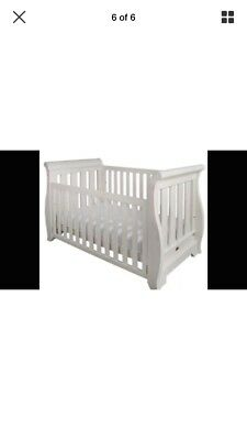 Boori White Sleigh Country Collection Cot Bed & Mattress
