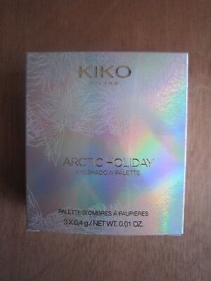 Kiko Arctic Holiday Eye Shadow Palette 3X0.4G**new Free P&p**