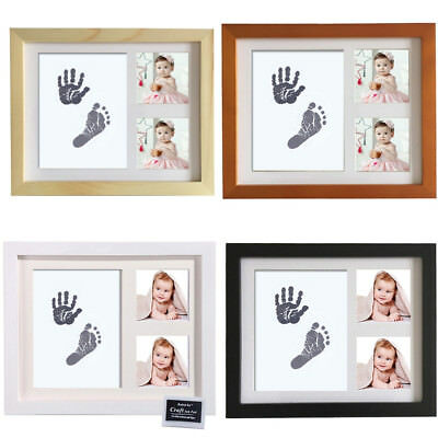 EP_ Newborn Baby Handprint Footprint Photo Frame Kit Non-Toxic Touch Ink Pad Fas
