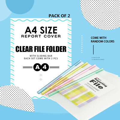 A4 slide clip file reporting file document holder