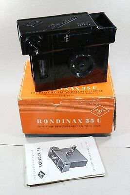 Agfa Rondinax 35U Daylight Developing Tank boxed with instructions