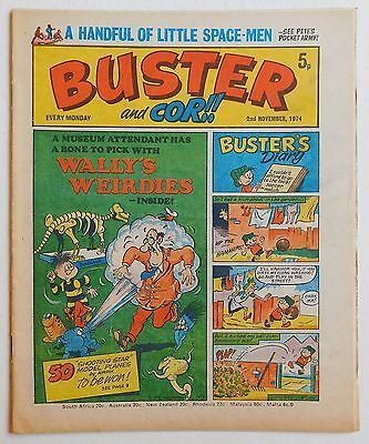 BUSTER and COR Comic - 2nd November 1974