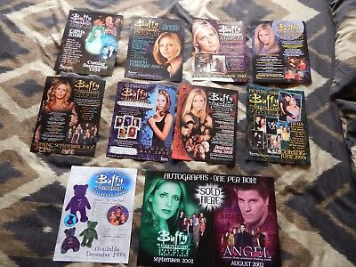10 Buffy The Vampire Slayer Trade Cards Promo Posters 1998-2003 Mint