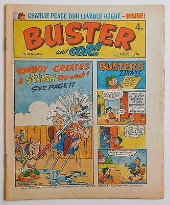 BUSTER and COR Comic - 31st August 1974