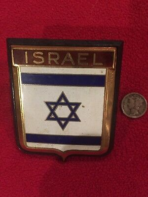 1950s Authentic ISRAEL Drago Car Badge Auto Radiator made in France