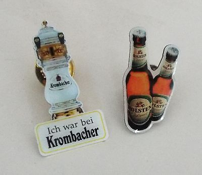 Holsten + Krombacher Bier  -  2 Button Anstecker