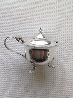 Antique silver mustard pot