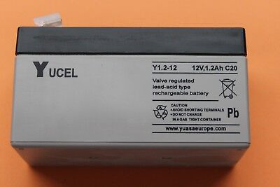Yucel (Yuasa) Y1.2-12 Valve Regulated Sealed Lead Acid Battery 12V 1.2AH