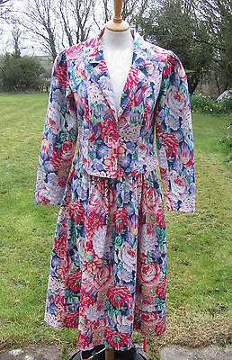Vintage Laura Ashley Skirt & Jacket. Beautiful Colours And Condition. Size 14.