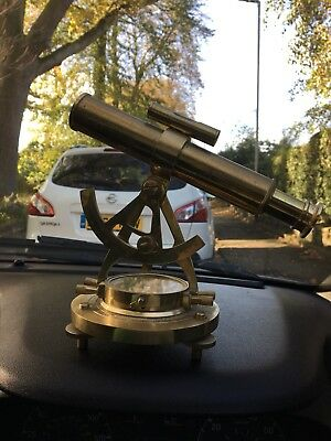 Vintage Unique Telescope alidade Compass Nautical Brass