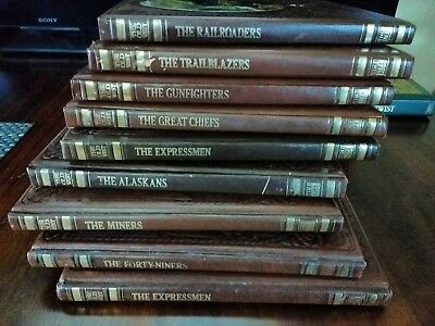 9 Classics Old West Time Life Collectible Books see listing Leather Tooled Cover