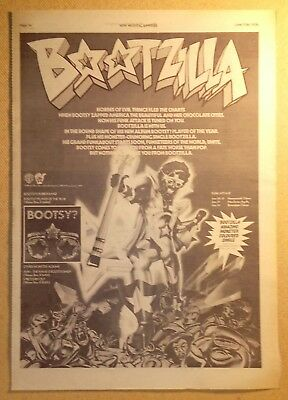 "BOOTSY ""Bootzilla"" Original 1978 NME Trade/Press Advert Poster PAGE"