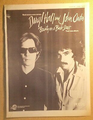 "HALL & OATES ""Beauty ....."" Original 1977 SOUNDS Trade/Press Advert Poster PAGE"