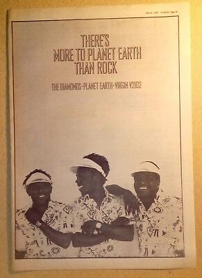"THE DIAMONDS ""Planet Earth"" Original 1978 SOUNDS Trade/Press Advert Poster PAGE"