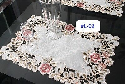 Set of 4 embroidered floral table mat mats runner cloth (VARIOUS SIZES & DESIGNS