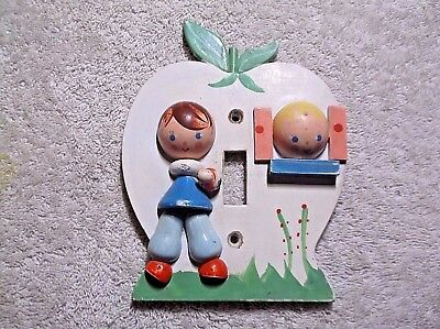 Vintage IRMI painted wood Nursery kid's Child's room Light Switch Plate Cover