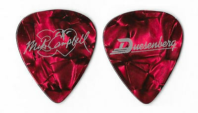 Tom Petty and the Heartbreakers Mike Campbell silver/red pearl tour guitar pick