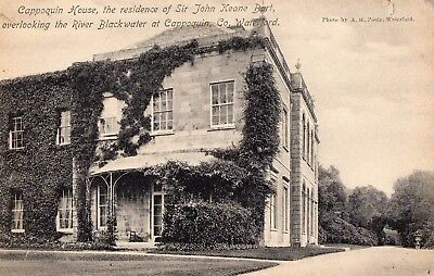 CAPPOQUIN HOUSE OVERLOOKING BLACKWATER WATERFORD IRELAND POSTCARD by A H POOLE