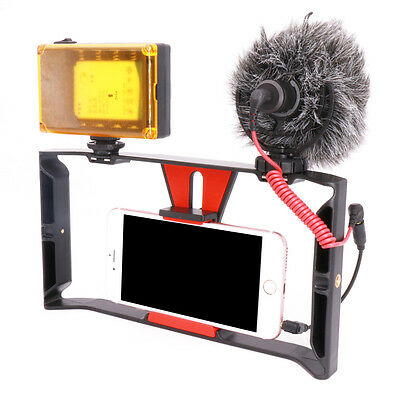 EP_ Smartphone Video Filmmaking Recording Grip Rig Tool Stabilizer Holder Rakish