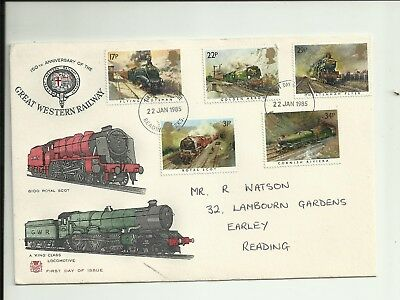British Railway Stamps inc Great Western Railway First Day Cover 1985