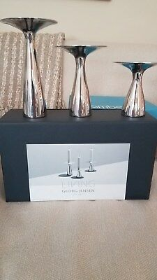 Georg Jensen Alfredo Candlesticks - Brand new, in original box.