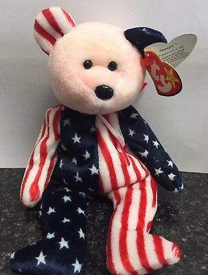 """Spangle"" TY Beanie Babies 1999 (Red/Pink Face) w/Tags"