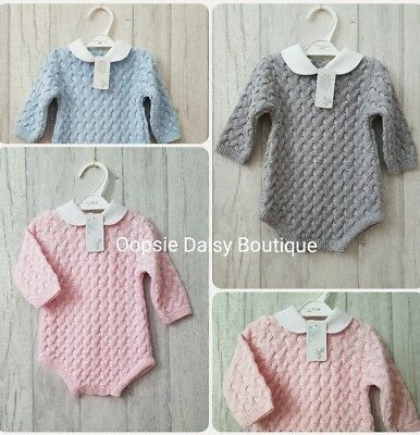 Babys Gorgeous Spanish Romper Suits with Peter Pan Collar - Supersoft Knit ♡