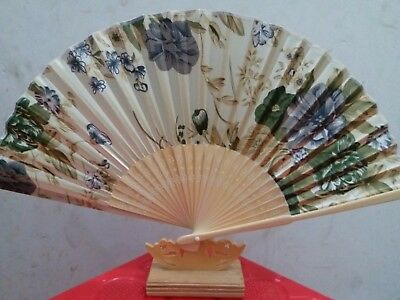 New Elegant Modern Woman Handmade Bamboo silk Folding Hand Chinese Fans US