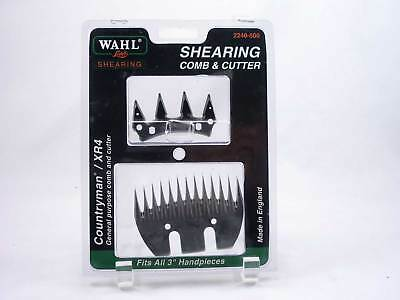 "Wahl Lister Shearing Comb & Cutter Blade Set Countryman XR4 3"" Heads 2240-500"