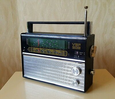 VEF 206 Portable Radio LW, MW, 6 SW 1973 year USSR
