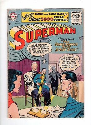 Superman 109 F/G 1.5 First Silver Age Issue 1956
