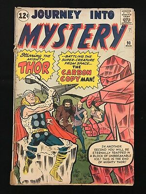 Journey Into Mystery #90 Fr/gd Marvel Comics Silver Age Thor!