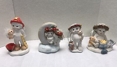 Dreamsicles Lot Of 4 Figurines Hand Crafted Cast Art Precious Moments