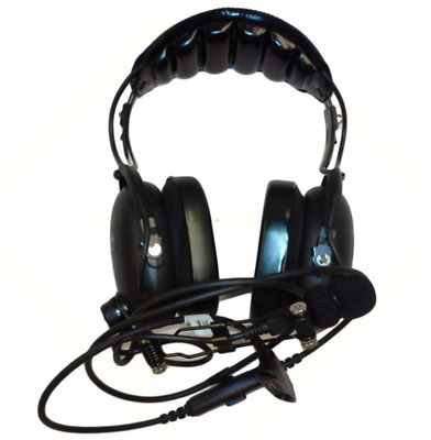MOTOROLA DOUBLE-MUFF HEADSET, OVER-THE-HEAD, with IN-LINE PTT, 24dB, AARMN4019A