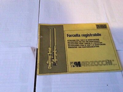 Marzocchi fork service book 7/80, in 5 languages. 1980?